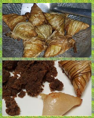 ketupat goreng cicah sambal ikan