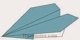 Bước 7: Hoàn thành cách gấp máy bay kiểu thông thường bằng giấy origami.