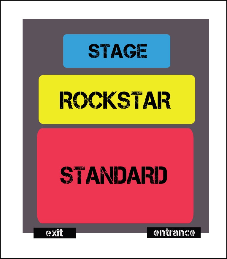 Alex Goot & Against The Current Live In KL layout plan