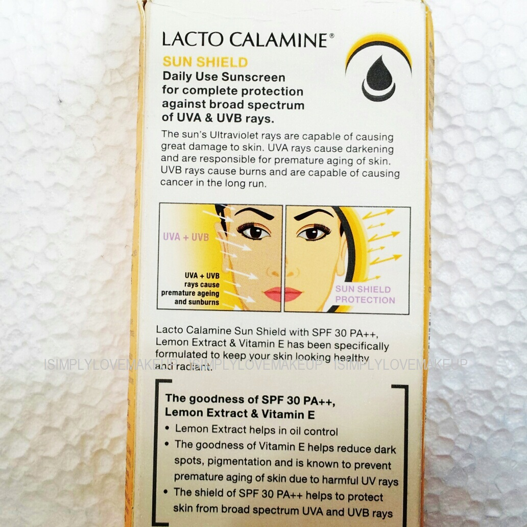 Lacto Calamine Sun Shield Daily Use Sunscreen - Oily to Normal Skin Variant