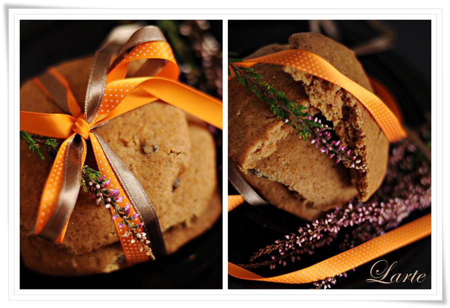 dynia, ciastka, ciastka dyniowe, halloween, jesień, blog, blogger, larte, blog larte