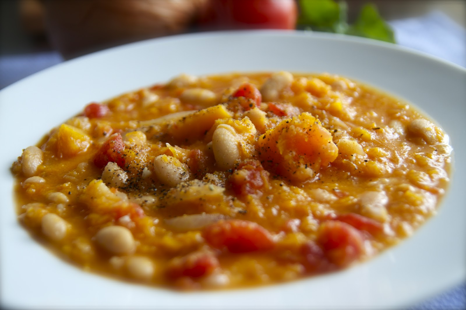 ... : Butternut Squash and White Bean Stew with Rosemary and Tomatoes