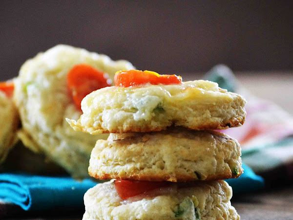 Jalapeno, Cherry Tomato, Cheddar and Herb Biscuits ~Sundays With Joy~