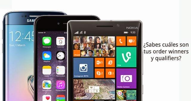 Order winners y qualifiers de los smartphones