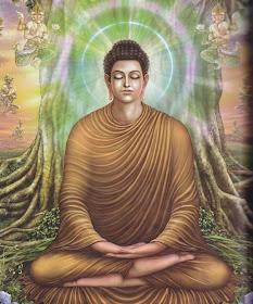成等正觉:佛陀终于夜睹明星而悟宇宙真谛,叹曰:一切众生本具如来智慧德相! 从此,佛陀成就了宇宙中最完善慈悲与智慧