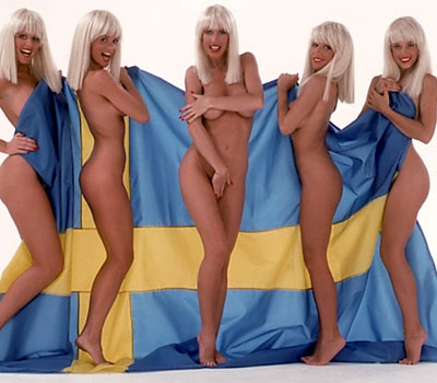 Sexy Hot Swedish Women - Swedish Bikini Team - Patriotic