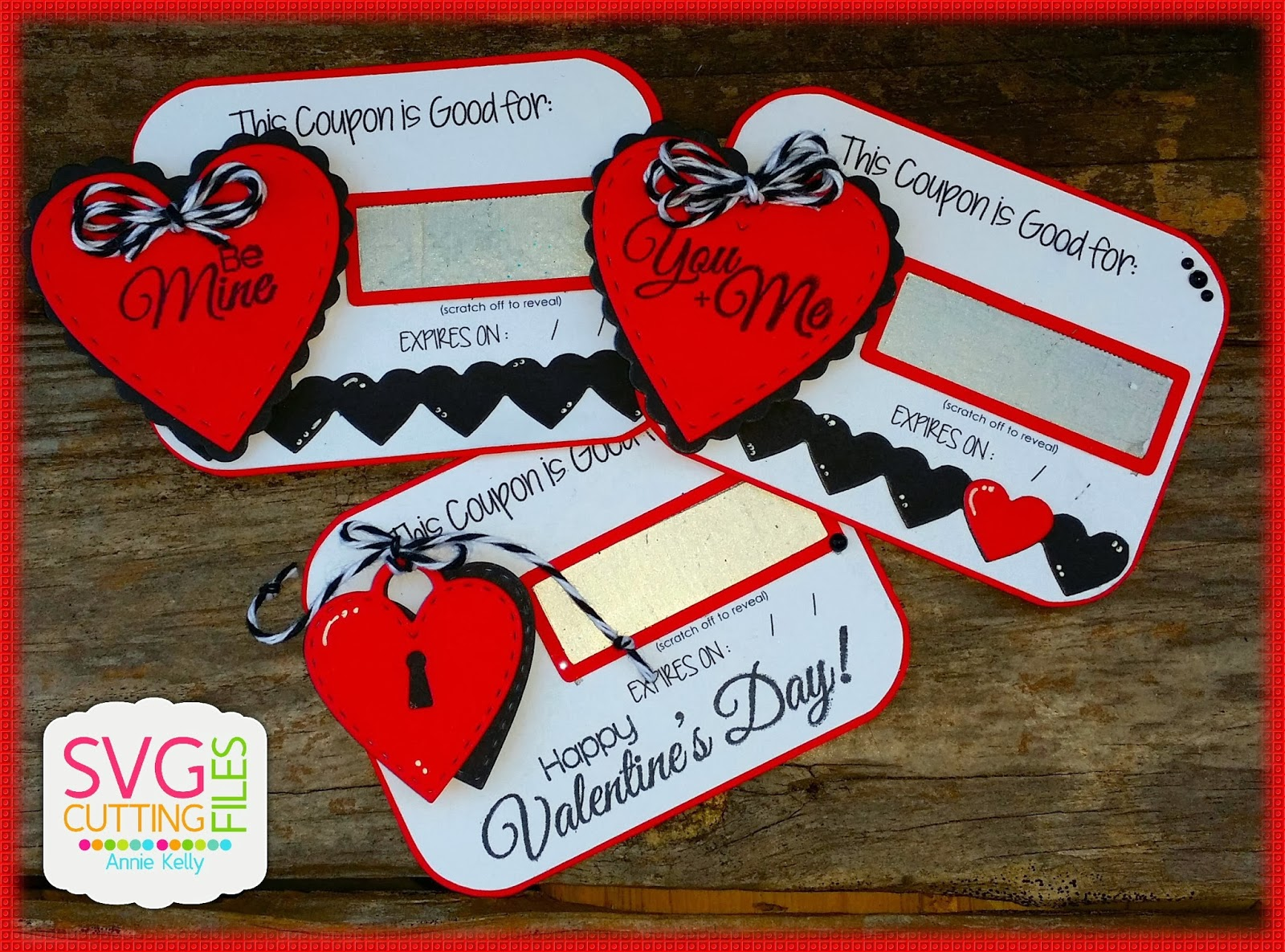 Creating Anniething Valentine Scratch Off Coupons DIY