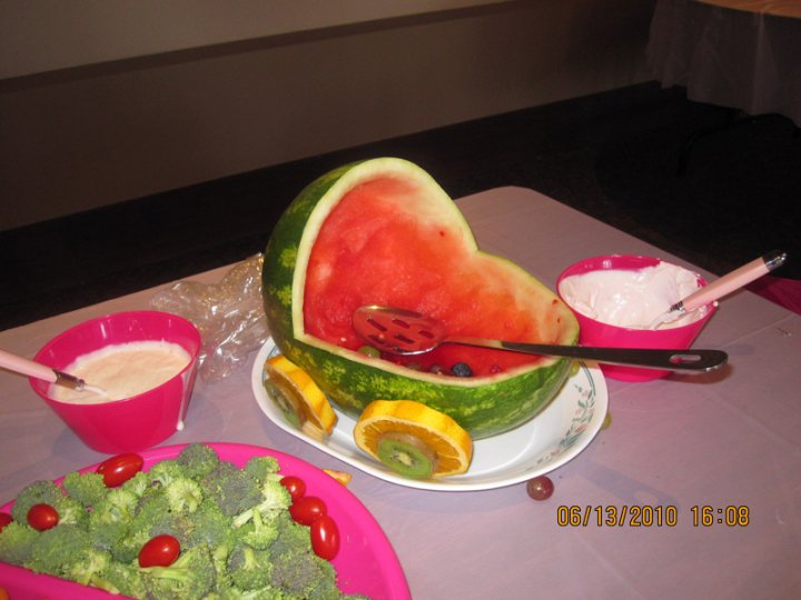 watermelon carving for baby shower. my daughter#39;s aby shower.