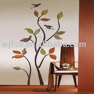 adesivos de parede com folhas de outono