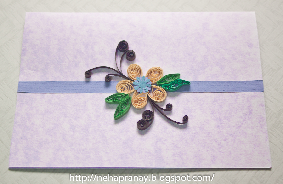 quillling work neha simple quilling card