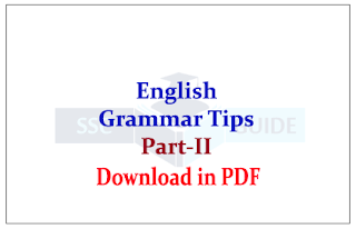 English Grammar Tips Part-II