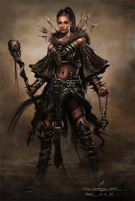 Female Necromancer Concept por bpsola