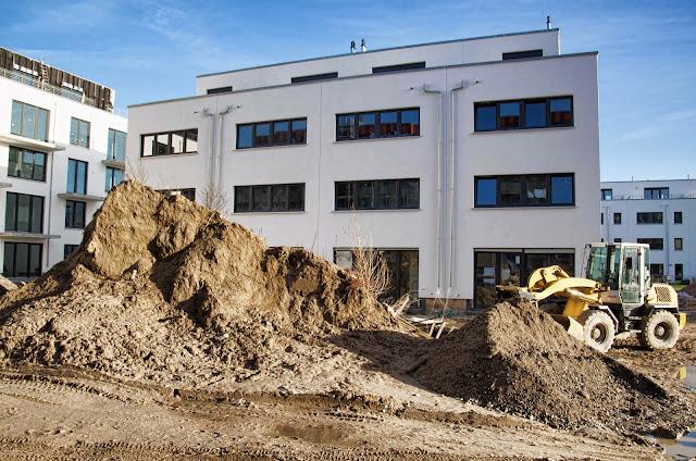 Baustelle Thaerstraße, zwischen Erich-Nehlhans-Straße und Zur Marktflagge, Zur Innung, 10247 Berlin, 07.01.2014