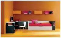 ORANGE BEDROOMS - COLORS FOR BEDROOMS - BEDROOMS BY COLORS - BEDROOMS AND COLORS - MEANING OF COLORS
