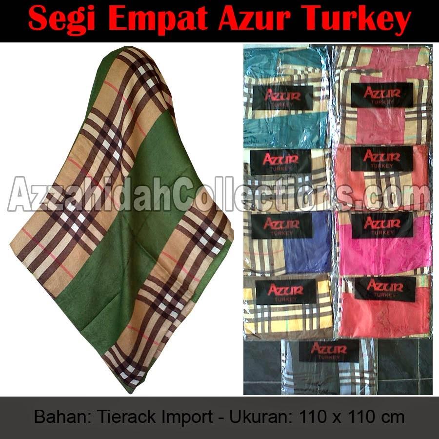 Jibab Segi Empat Azur Turkey - www.azzahidahcollections.com