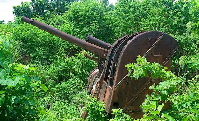 WWII Japanese gun emplacement
