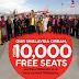 Air Asia Bagi 10 000 Tiket Percuma untuk Program Integrasi 1Malaysia