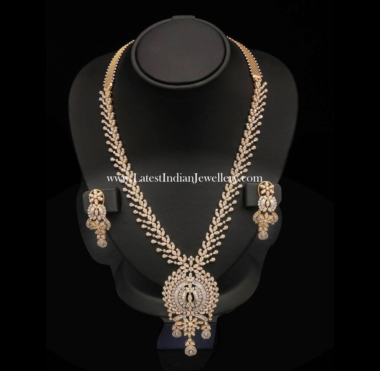 Designer Long Diamond Haram Set