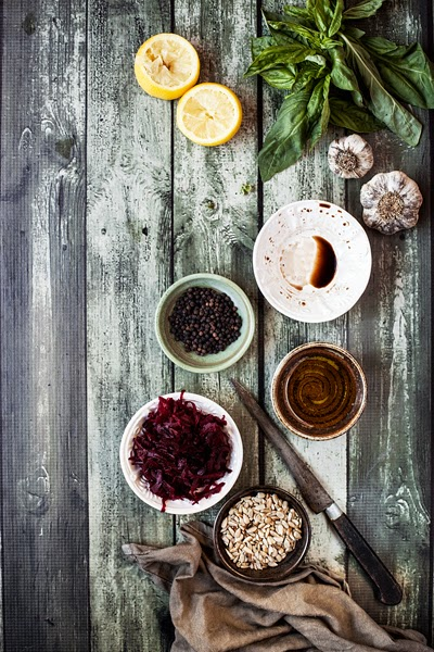 Red Beet Pesto Ingredients
