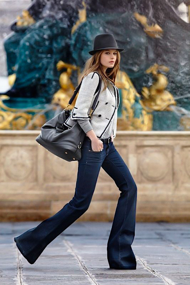 People & Styles spring street style trend: how to wear flared jeans, pinterest street style