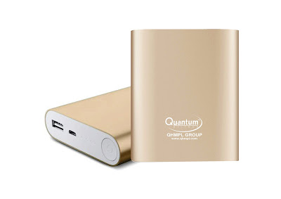 Quantum launches 10400 mAh Gold Power Bank ahead of the festive season in India for Rs. 1990