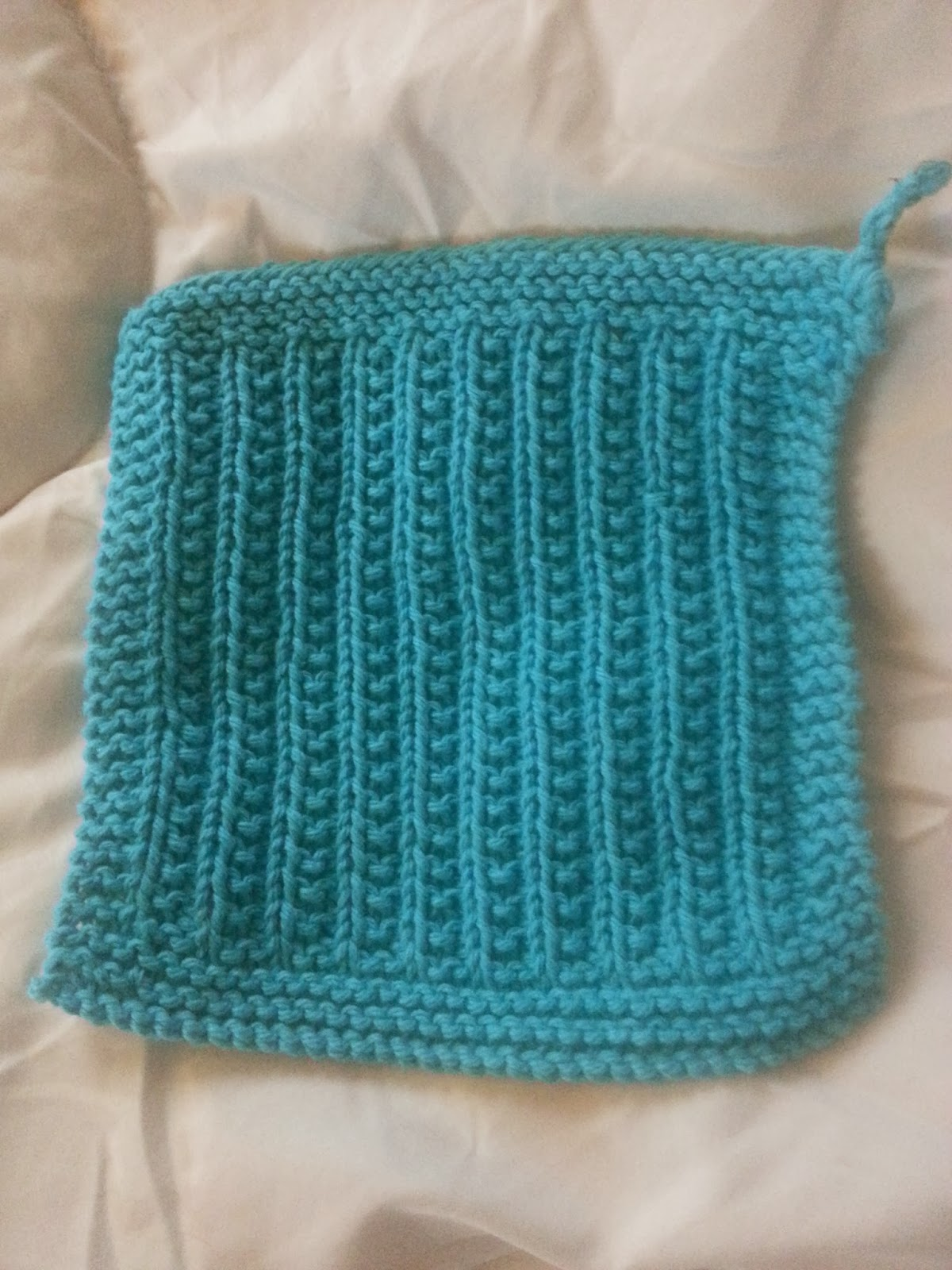 Sewing to Bliss: Cluster Rib Dishcloth Knitting Pattern