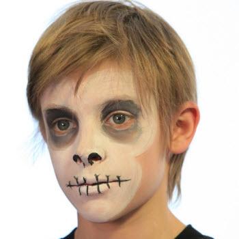 skeleton makeup instructions.