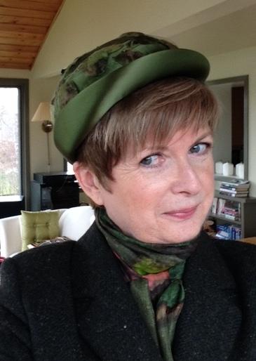 Max Mara tweed blazer, vintage silf scarf, vintage hat
