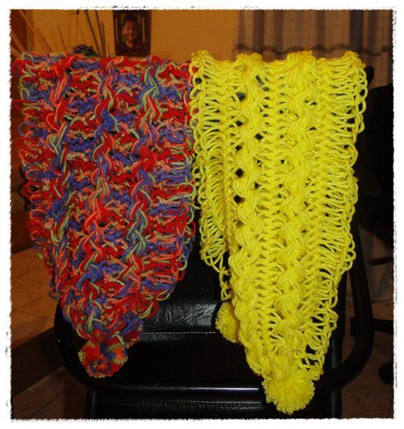 Entre Mates y Lazadas: Bufandas tejidas en horquillas