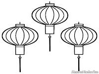 Gambar Lampu Lampion Untuk Lomba Mewarnai Gambar Tahun Baru Cina