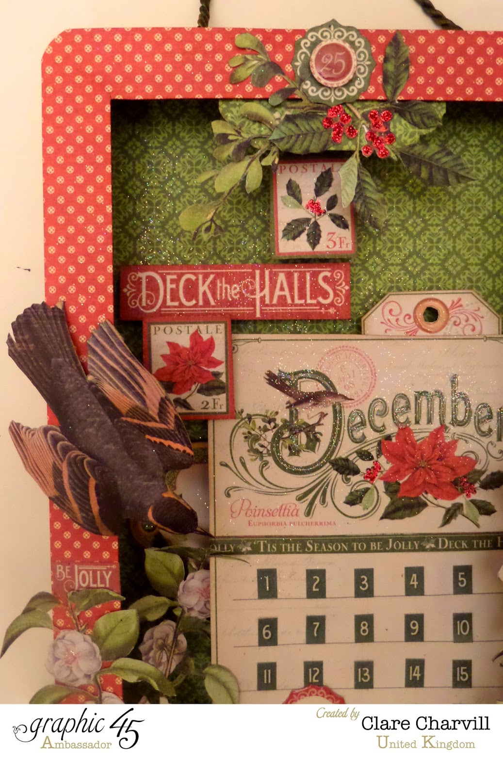 Time to Flourish Countdown to Christmas Advent Calendar  5 Clare Charvill Graphic 45