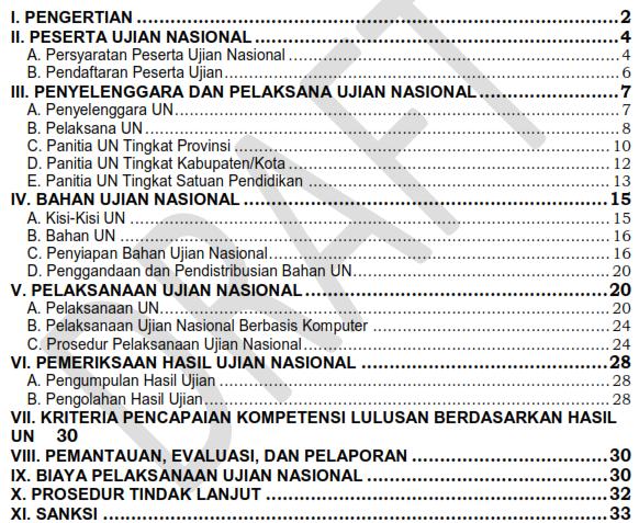 Sudah Ada!!! Draf Prosedur Operasional Standar Penyelenggaraan (POS) Ujian Nasional Tahun Pelajaran 2015/2016 Final