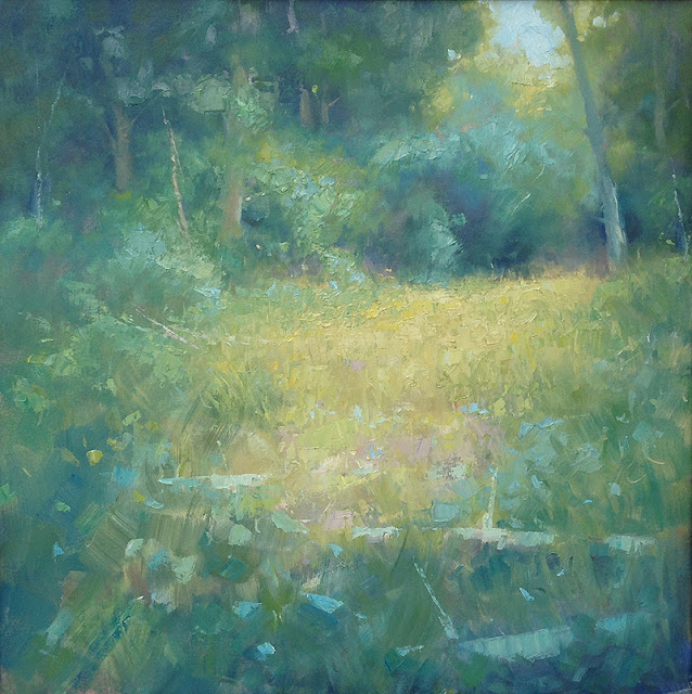 Lush - oil painting by Steve Allrich #impressionist #landscape #summer
