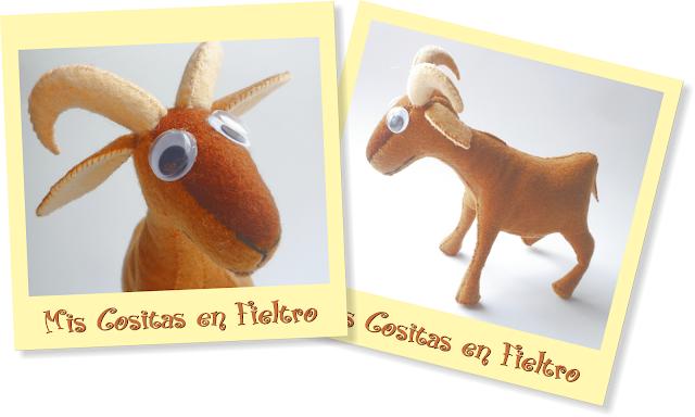 cabra, cabra 3d, fieltro, muñeco, animal, 3d, peluche de fieltro, muñeco 3d, muñeco de fieltro, felties, felty, goat