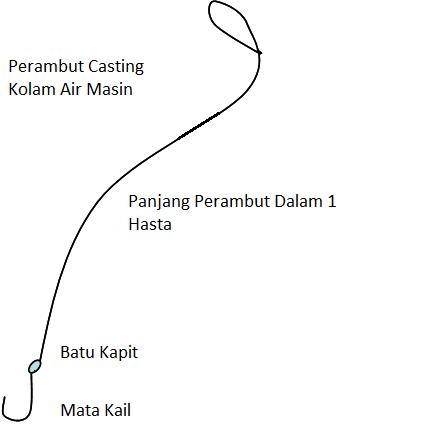 Perambut casting Ikan Siakap Kolam