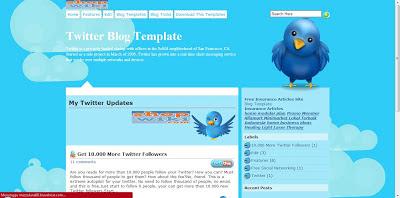 Template Blog Jejaring sosial Twitter