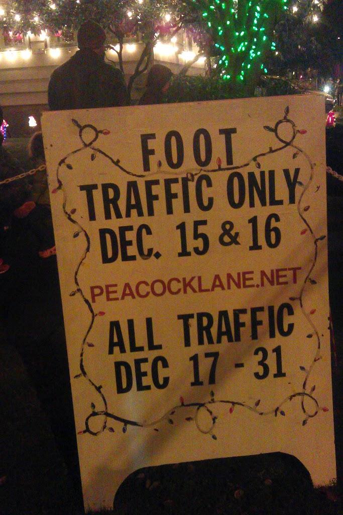 Peacock Lane Rules