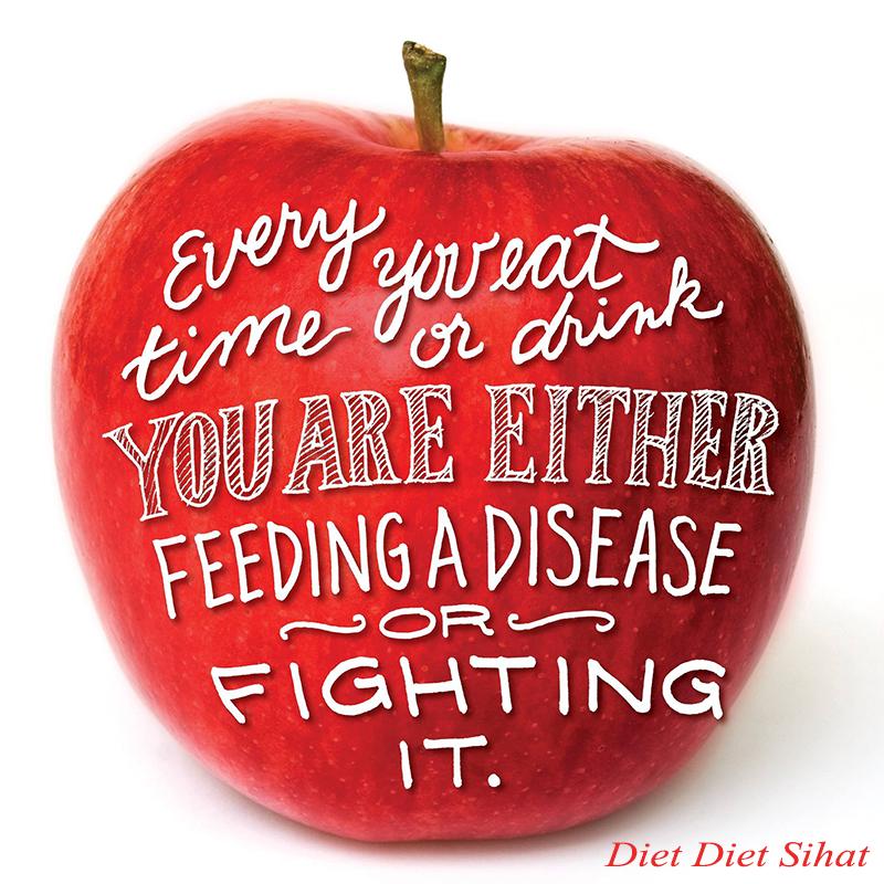 sihat makan epal