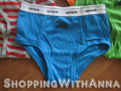Shopping with Anna: Carter's Boys Cotton 7-Pack Briefs / Underwear