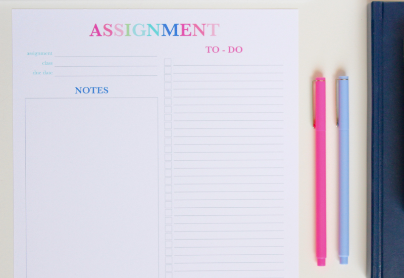 Have a big project or assignment to work on? Use the Assignment Planner to break it down to smaller to do items!