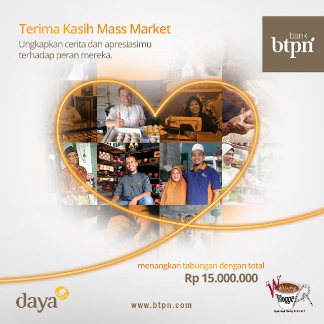 BTPN Blog Competition: Terima Kasih Mass Market