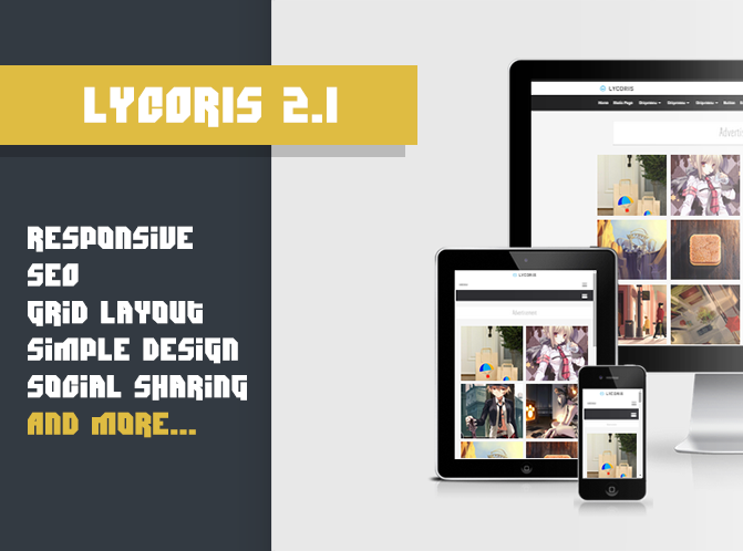 Download Lycoris 2.1 Responsive Blogger Template
