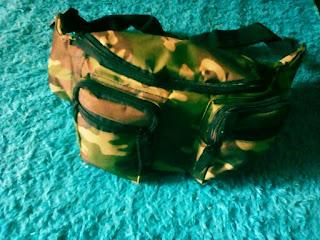 Tas Pinggang Waist Bag Loreng Murah Rp 50.000