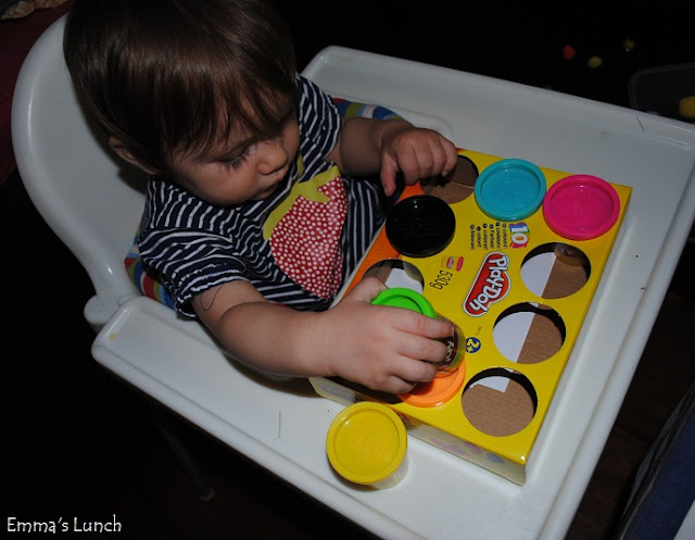 Baby Shape Matching with play doh