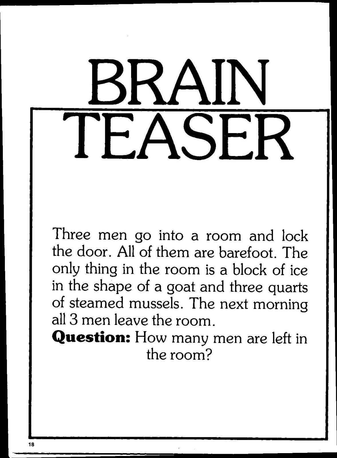 Brain Teaser - Free Online Game - Play Now | Kizi
