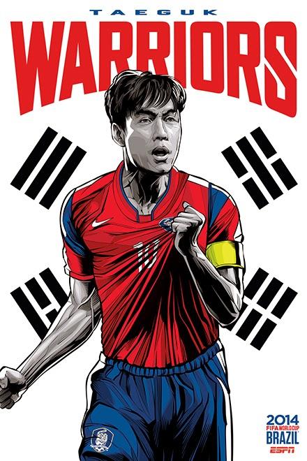 Poster keren world cup 2014 - Korea Selatan