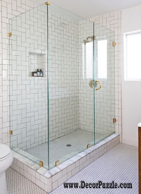 shower tile ideas, shower tile designs, tiling a shower, white bathroom shower tile