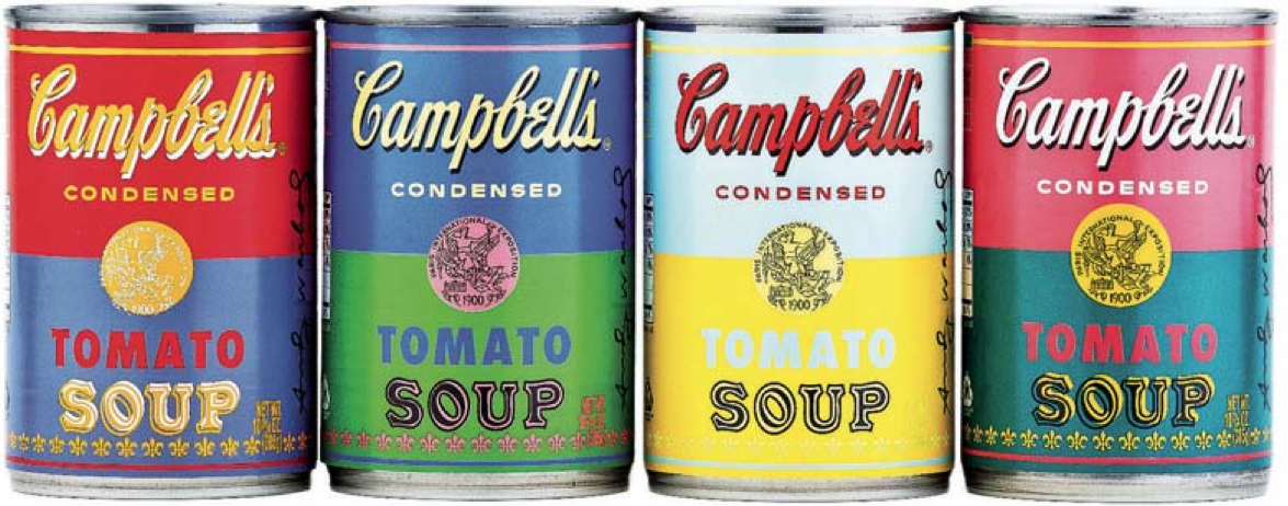 Campbell 39 s soup cans underworld for Barattoli di zuppa campbell s