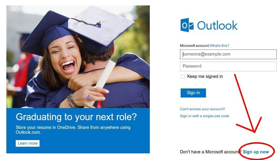 Como ter um e-mail da Outlook Live Hotmail