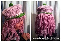 Strawberry Shortcake Crochet Pattern Hat Wig Sunday Night Link Blast ~A Mix Of Fun Crochet Patterns http://www.niftynnifer.com/2014/12/sunday-night-link-blast-mix-of-fun.html #LinkBlast #Crochet #CrochetRoundUp
